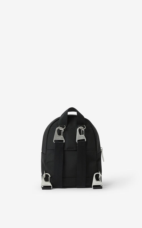 BLACK Kampus Tiger canvas mini backpack for women KENZO