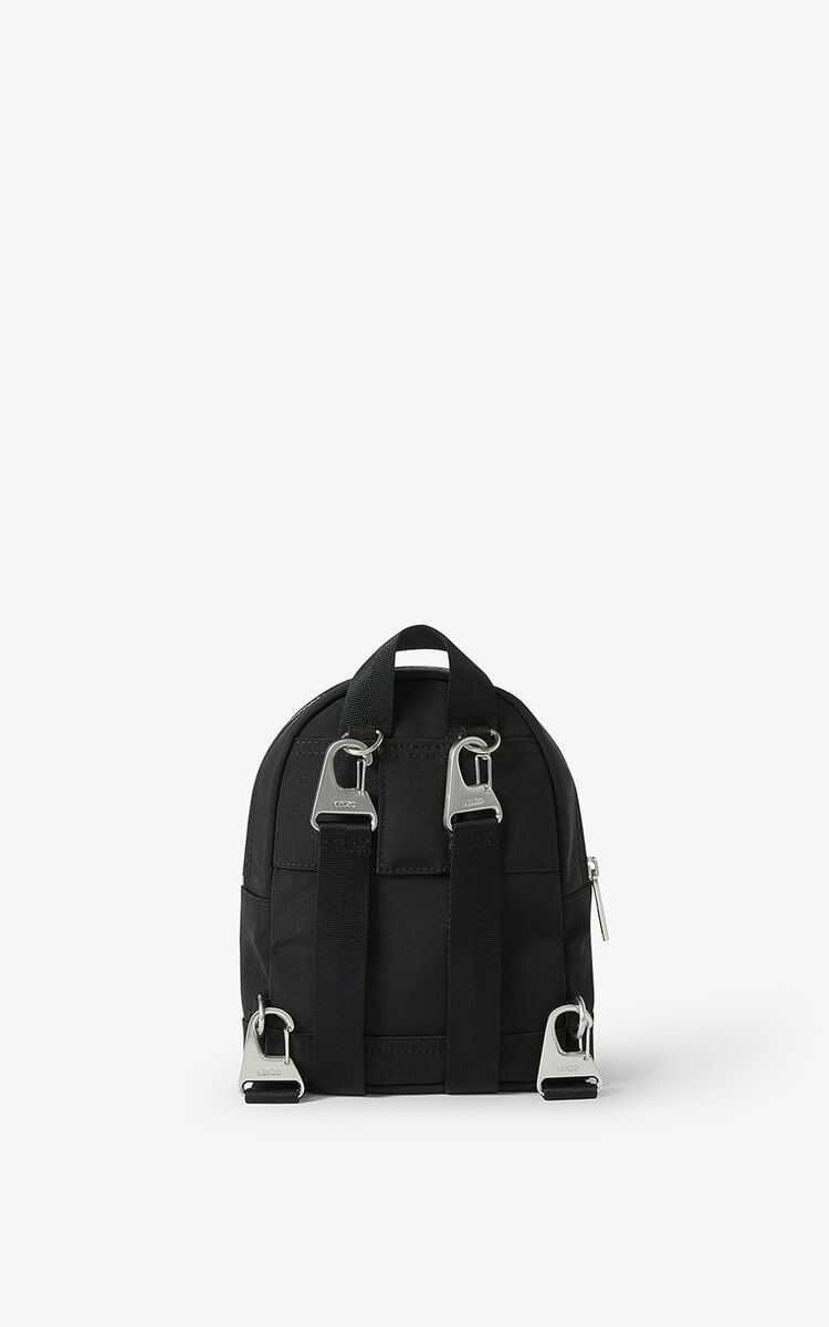 BLACK Kampus Tiger canvas mini backpack for unisex KENZO
