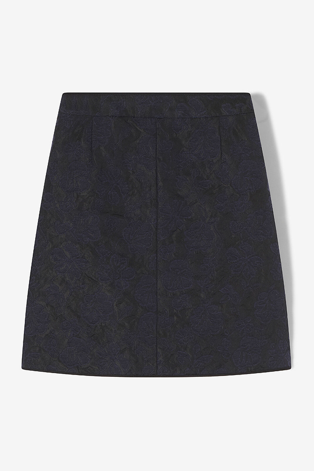 NAVY BLUE Floral Leaf' mini skirt  for women KENZO