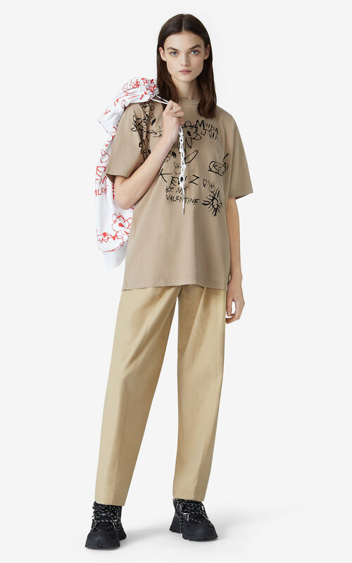 CAMEL Valentine's Day Capsule 'Valentine's flowers' oversize T-shirt for women KENZO