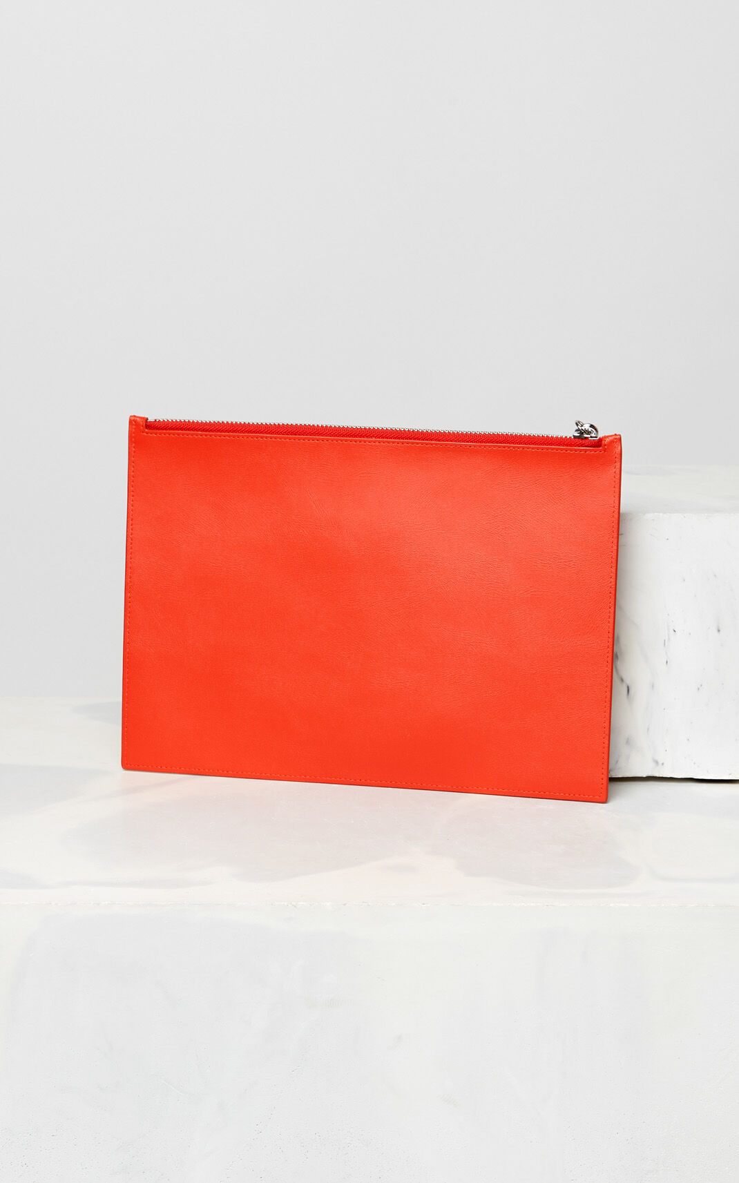 MEDIUM RED KENZO colorblock clutch for unisex
