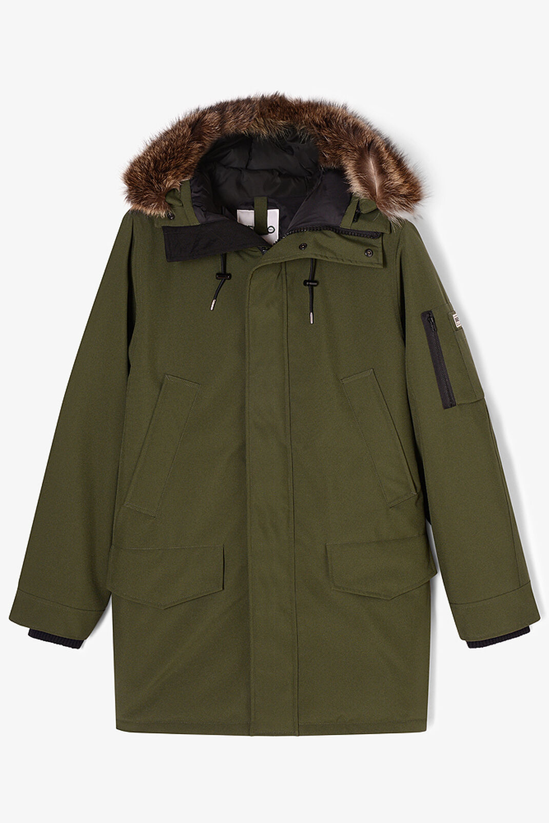 DARK KHAKI Long Fur parka for women KENZO
