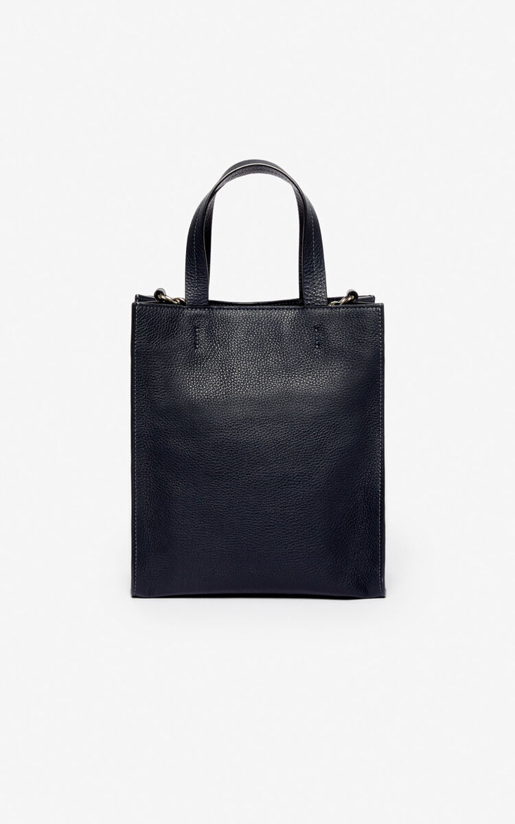 NAVY BLUE Kontrast tote bag for unisex KENZO