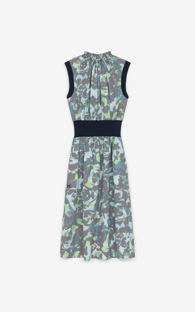 GRASS GREEN 'KENZO Archive Floral' fitted dress for women