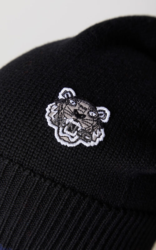 BLACK Tiger hat for unisex KENZO