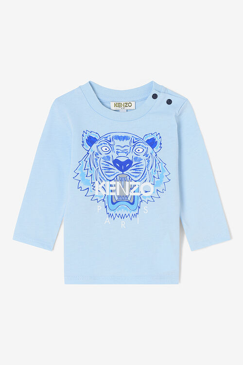 SKY BLUE Tiger Long T-shirt  for men KENZO