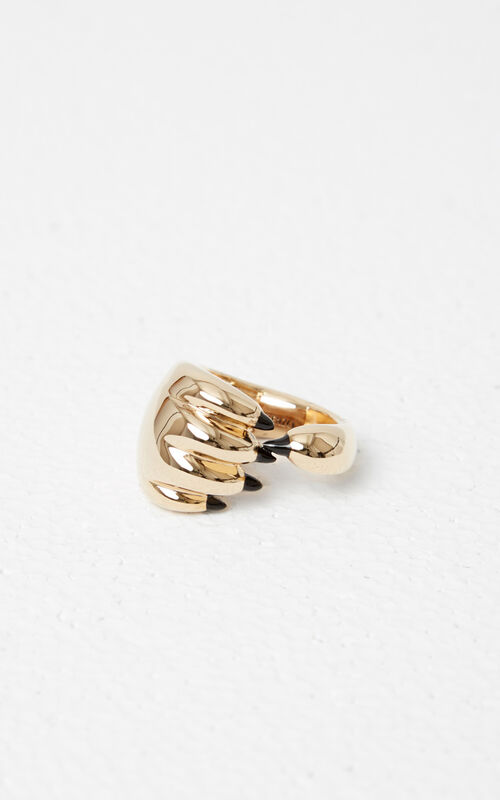 GOLD Tiger Paw Ring for women KENZO