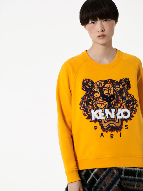 MARIGOLD Floral Leaf x Tiger sweatshirt  for women KENZO