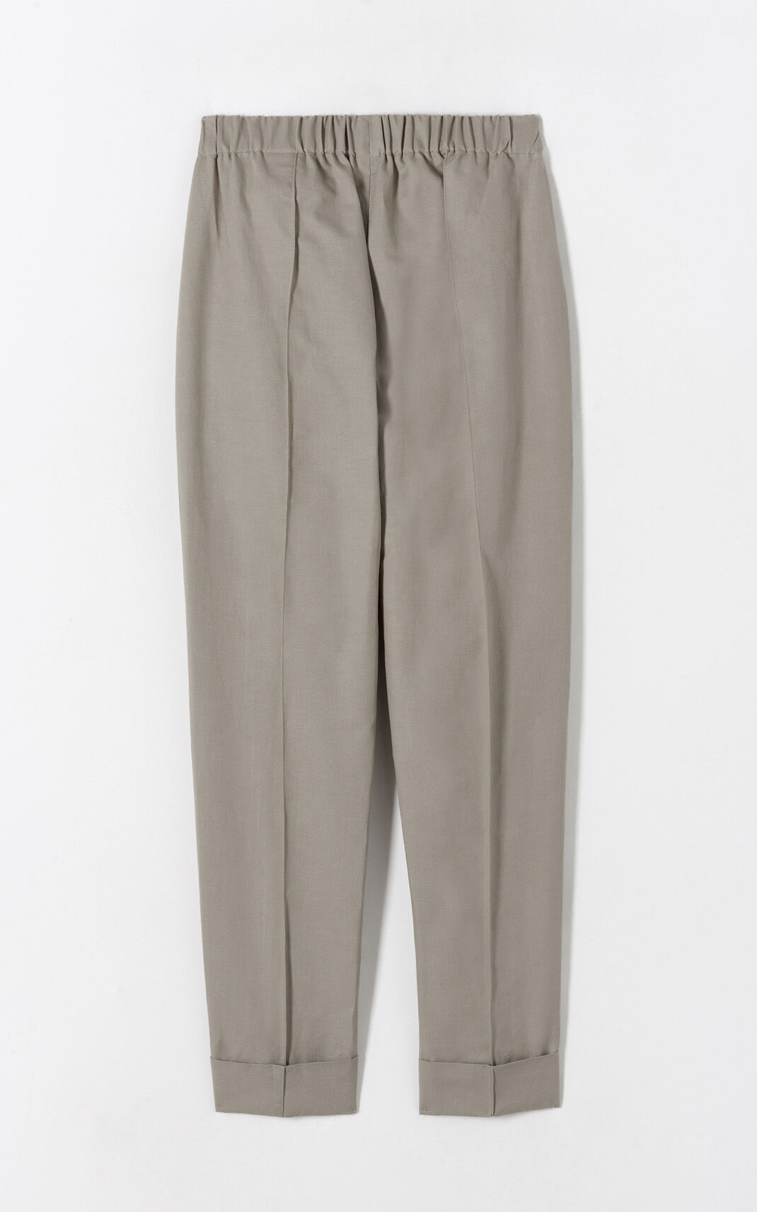 PALE CAMEL Crepe turn-up trousers for women KENZO