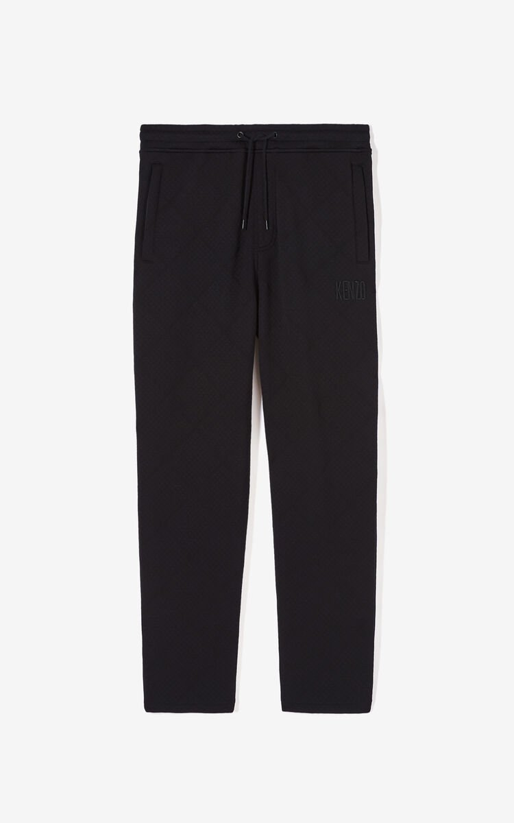 BLACK Textured jogging trousers for women KENZO