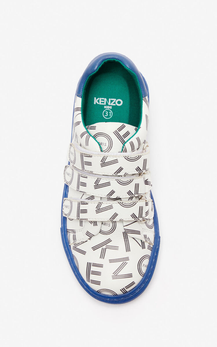 WHITE 'Japanese Dragon' sneakers for men KENZO