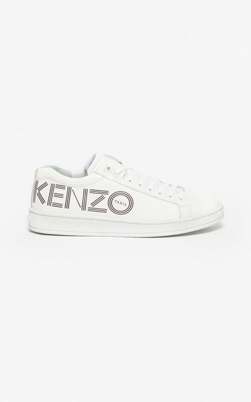 WHITE KENZO Logo Tennix sneakers  for unisex