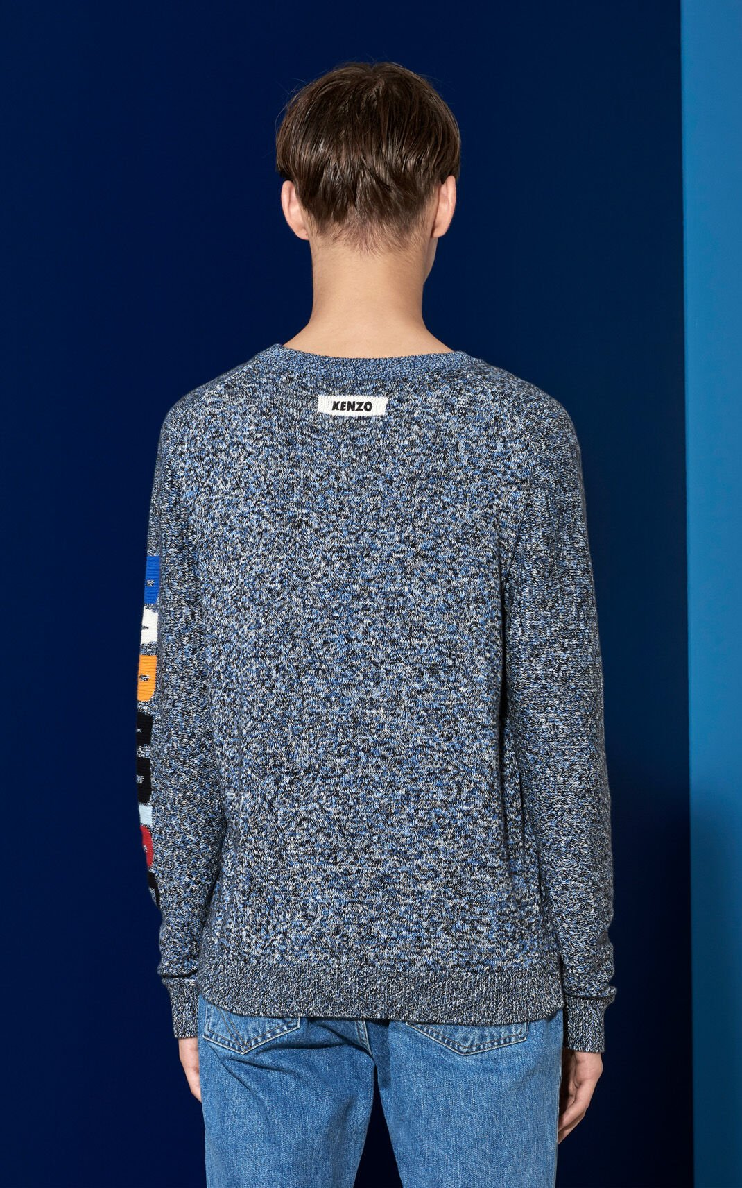 ANTHRACITE Badge Sweater for men KENZO