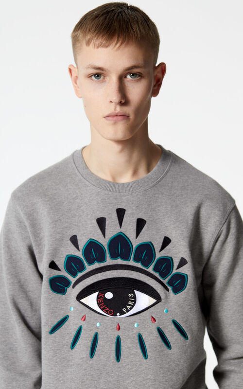 DOVE GREY Eye sweatshirt for men KENZO