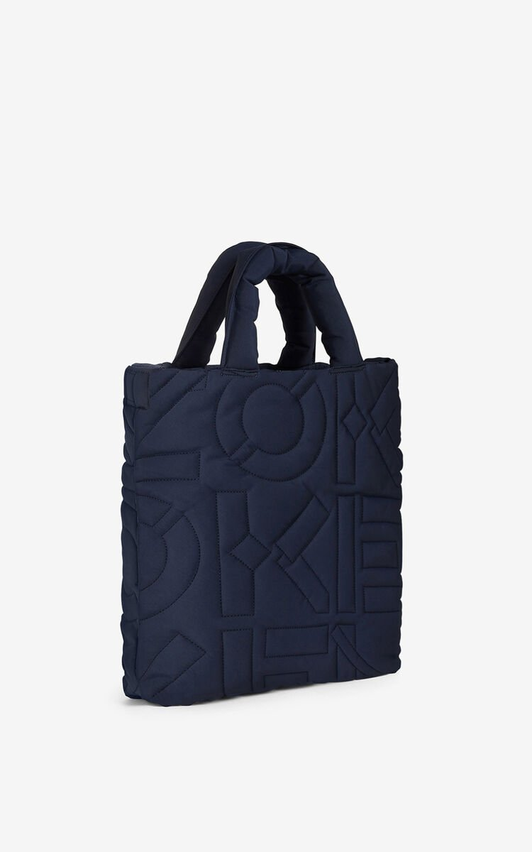 NAVY BLUE Arctic tote bag for unisex KENZO