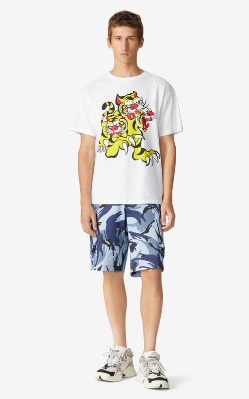 WHITE KENZO x KANSAIYAMAMOTO 'Three Tigers' T-shirt for women