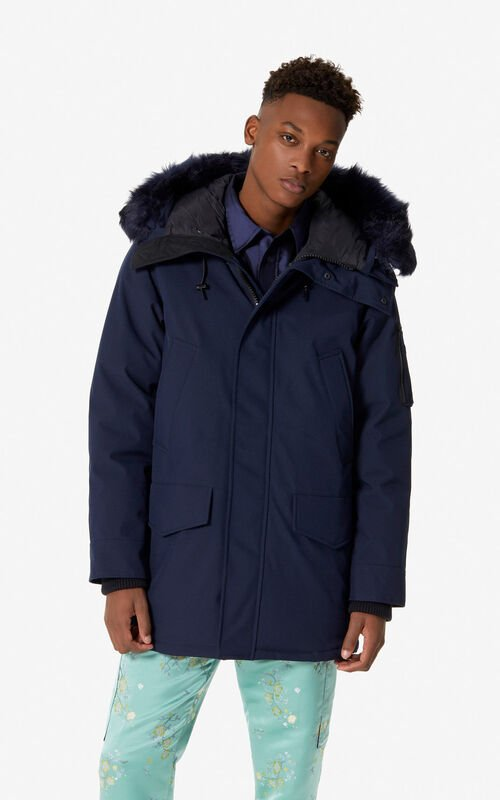 NAVY BLUE Long parka for men KENZO