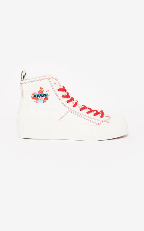 WHITE Volkano sneakers for women KENZO