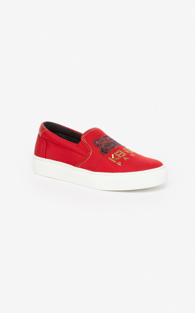 MEDIUM RED K-Skate Tiger loafers for women KENZO