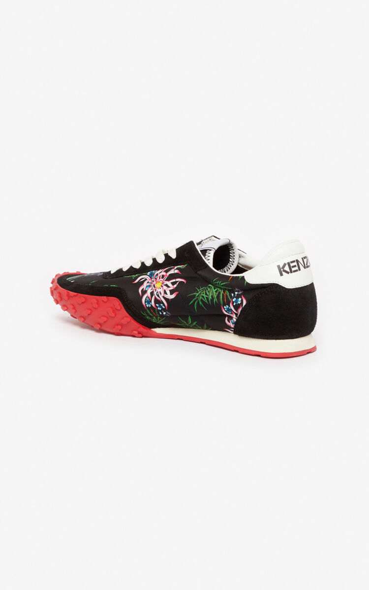 BLACK 'Sea Lily' KENZO MOVE sneakers for men