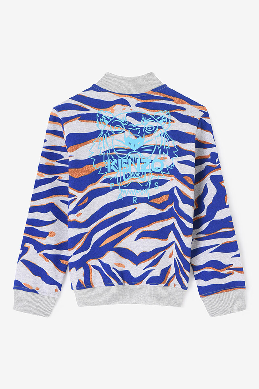 MIDDLE GREY Tiger Stripes Teddy for men KENZO