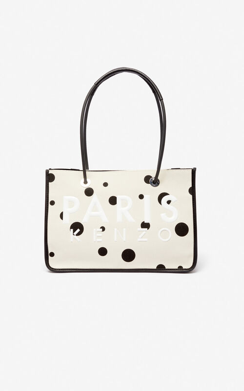 CREAM KENZO Kombo 'Dots' tote bag for unisex