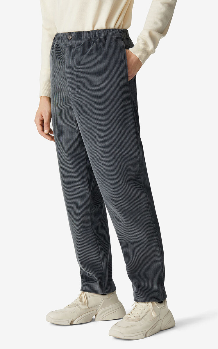 STONE GREY Corduroy joggers for men KENZO