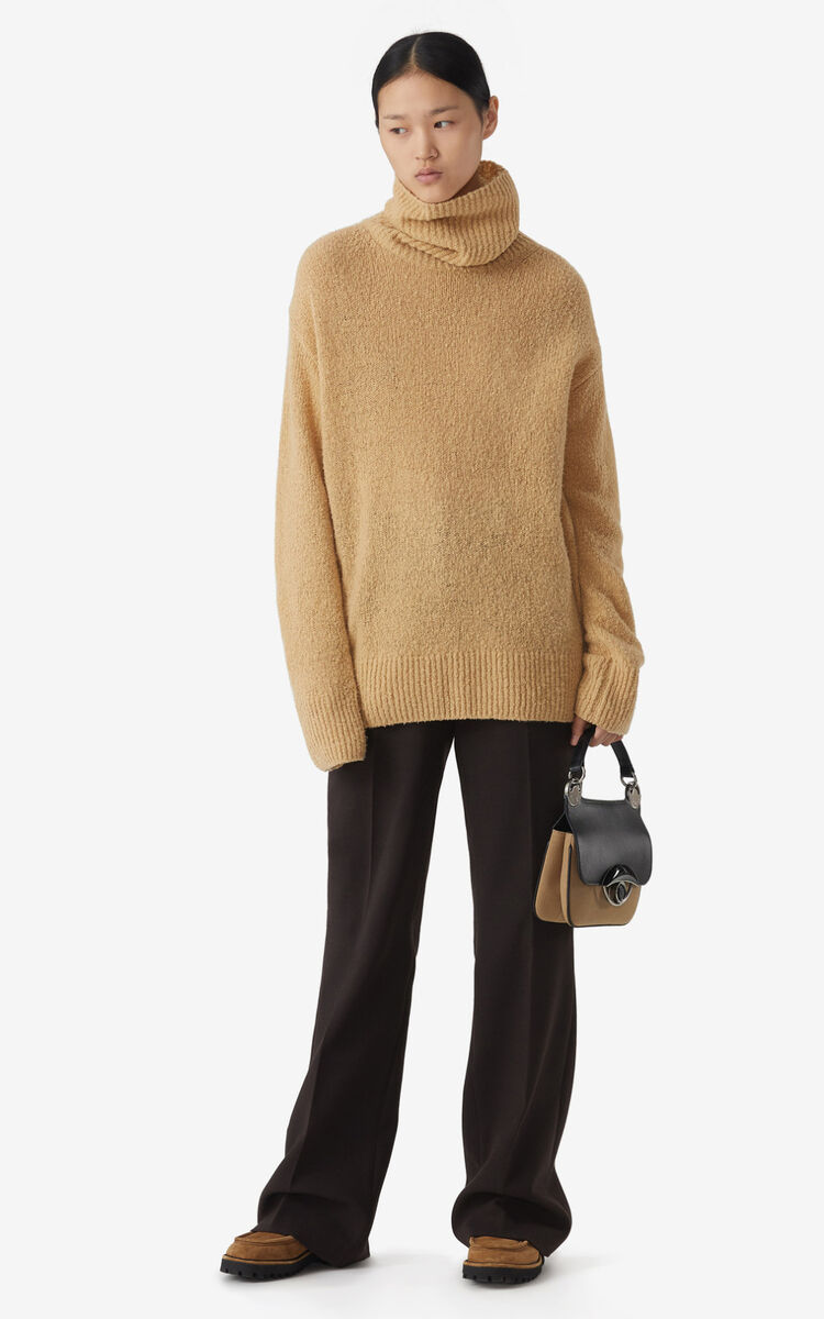 BEIGE Recycled cashmere roll neck jumper for women KENZO