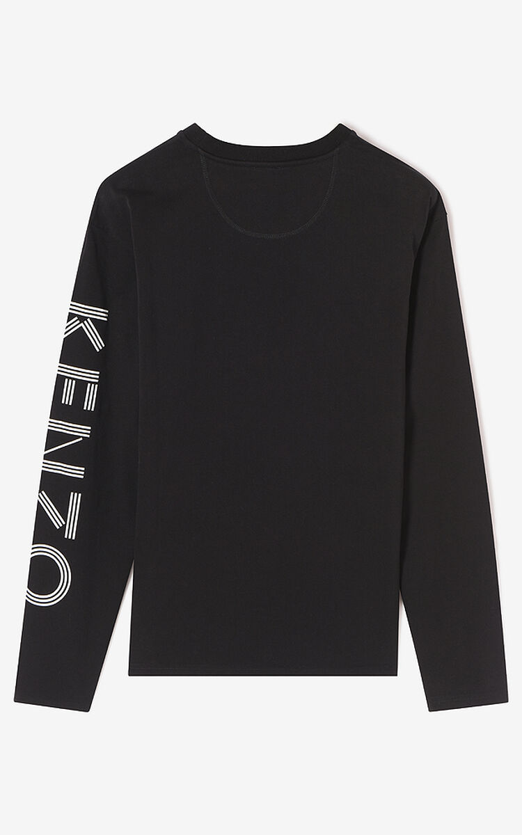 BLACK Kenzo Logo Tshirt for men
