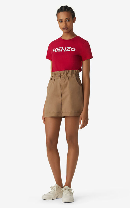 DEEP FUSCHIA KENZO Logo T-shirt for women