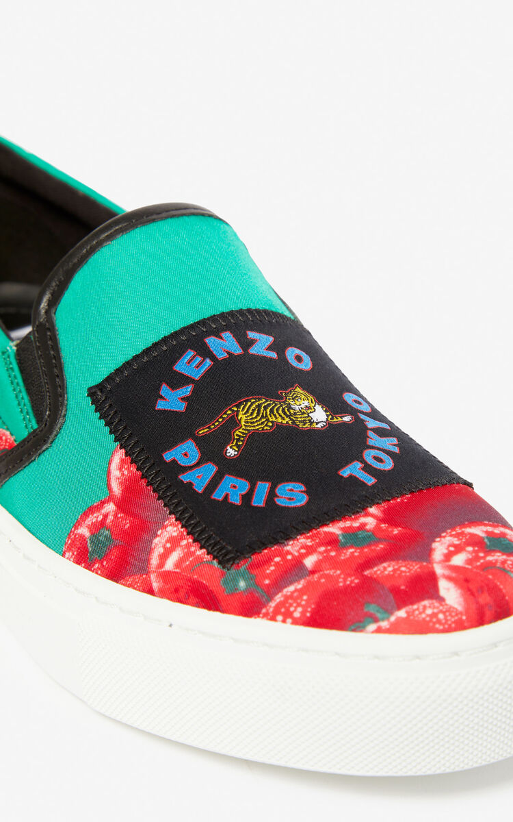 GRASS GREEN 'Tomato' slip-ons for global.none KENZO