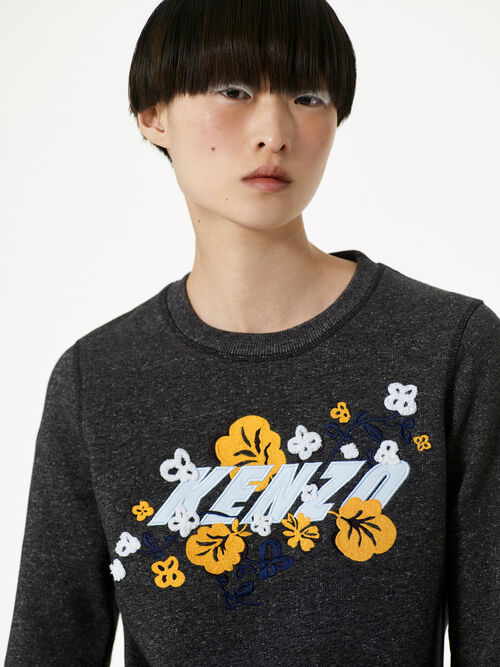 ANTHRACITE KENZO x Floral Leaf' Sweatshirt  for women
