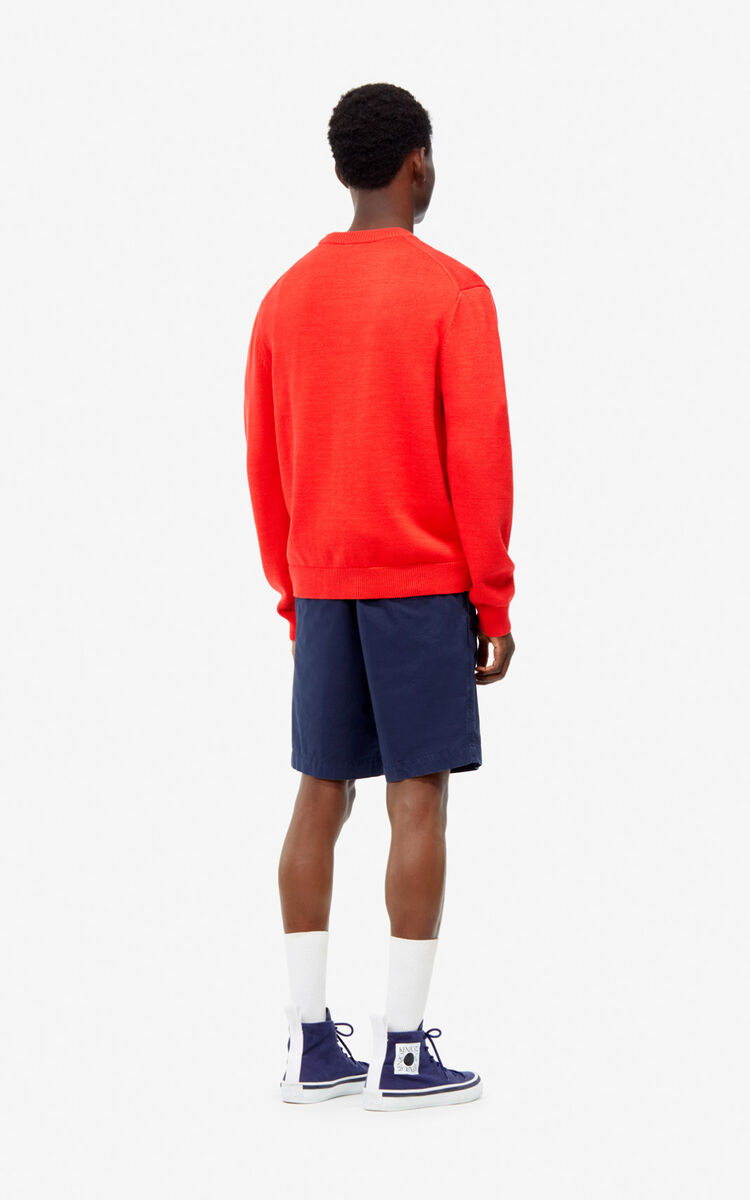 MEDIUM RED 'Bamboo Tiger' jumper for men KENZO