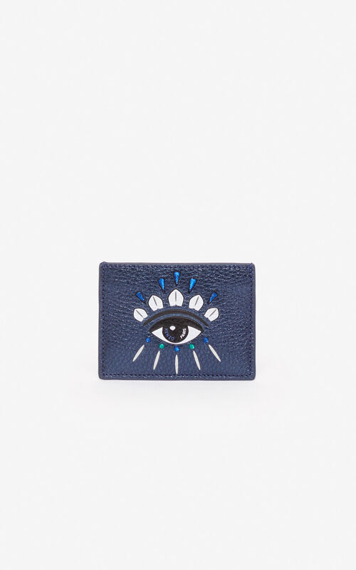 NAVY BLUE 'Holiday Capsule' Kontact Eye cardholder for unisex KENZO