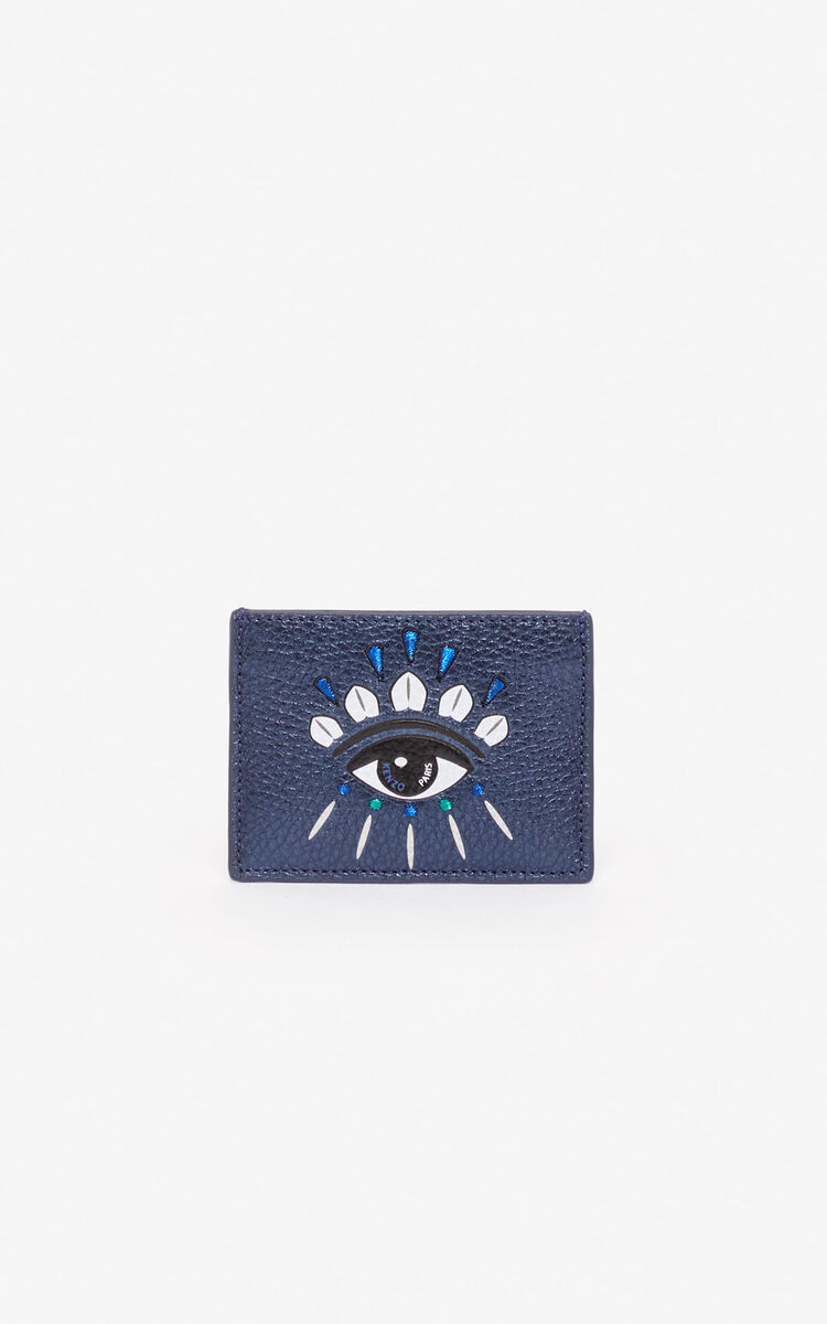 NAVY BLUE 'Holiday Capsule' Kontact Eye cardholder for men KENZO