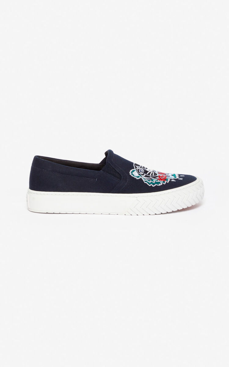 NAVY BLUE Slip-on K-Skate Tiger for unisex KENZO