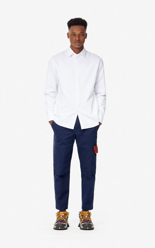 WHITE Casual cut 'KENZO World' shirt for men