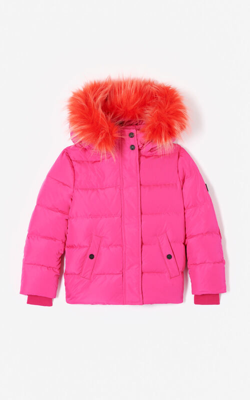 DEEP FUSCHIA Quilted puffa jacket for women KENZO