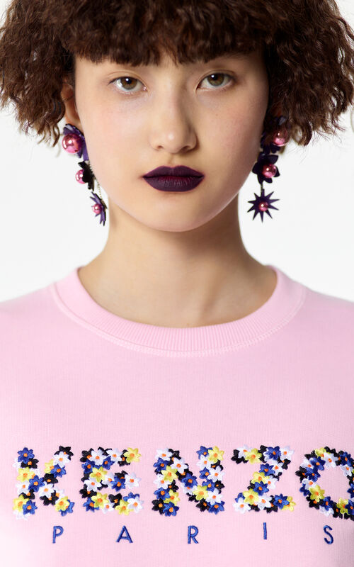FLAMINGO PINK KENZO Floral sweatshirt for women