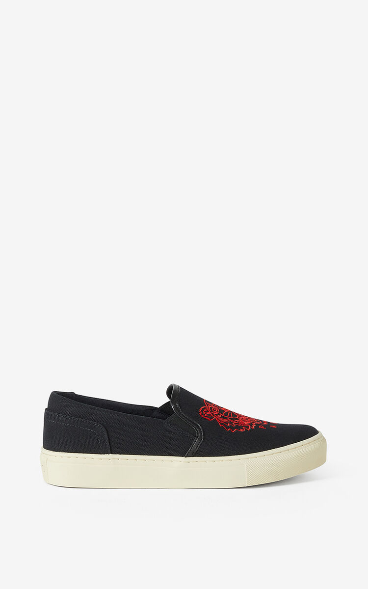 BLACK 'Chinese New Year Capsule' K-Skate Tiger laceless trainers for women KENZO
