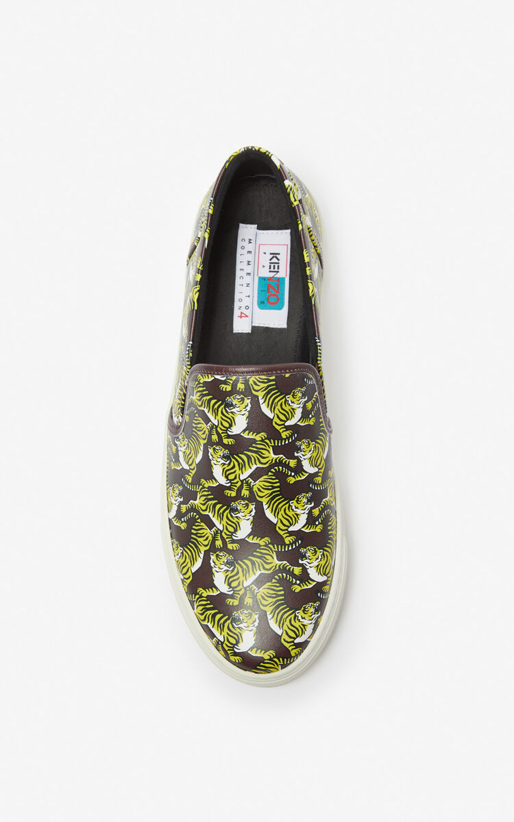 BORDEAUX 'Running Tiger' slip-ons for women KENZO