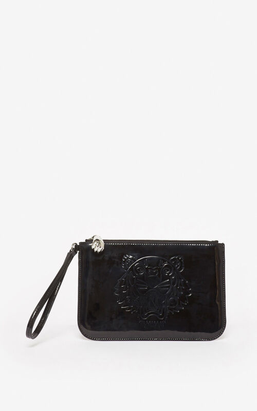 BLACK A5 Tiger clutch for men KENZO