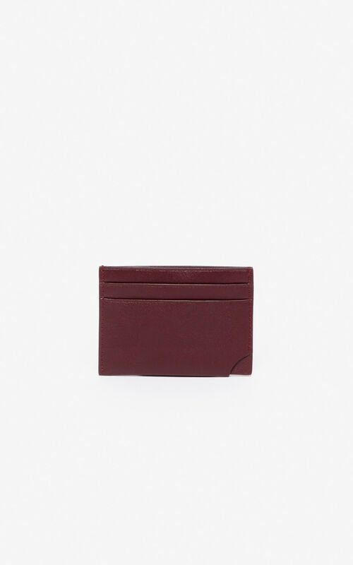 BORDEAUX 'Jumping Tiger' leather card holder for unisex KENZO