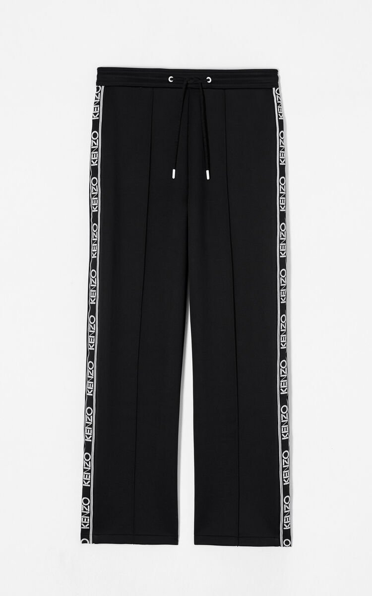 BLACK KENZO logo jogging trousers for women