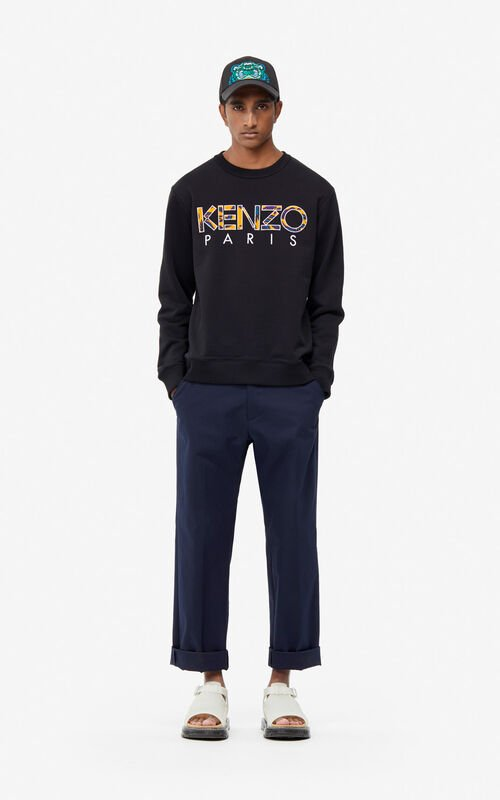 53e70b576f6 BLACK KENZO Paris  Flying Phoenix  sweatshirt for men ...