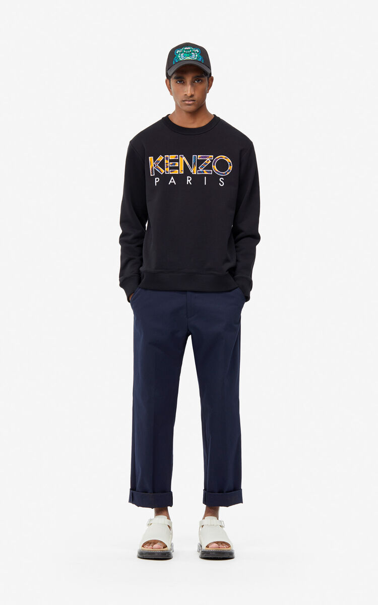 BLACK KENZO Paris 'Flying Phoenix' sweatshirt for men