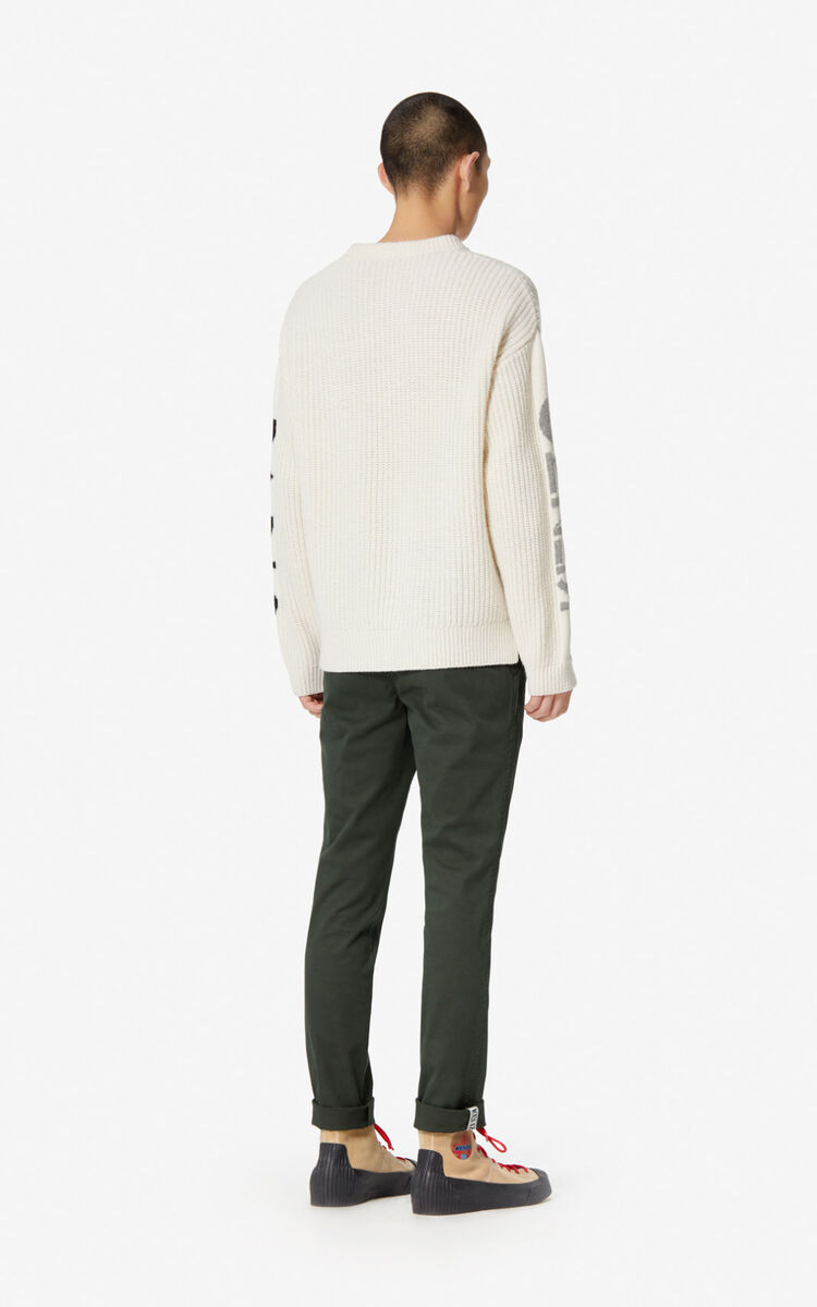 PINE Slim-fit rolled-cuff chinos for men KENZO