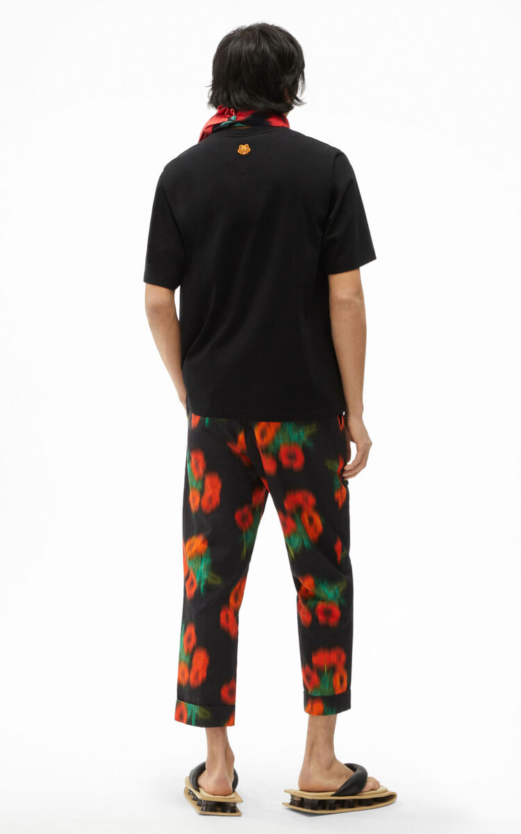 BLACK 'Poppy' T-shirt for men KENZO
