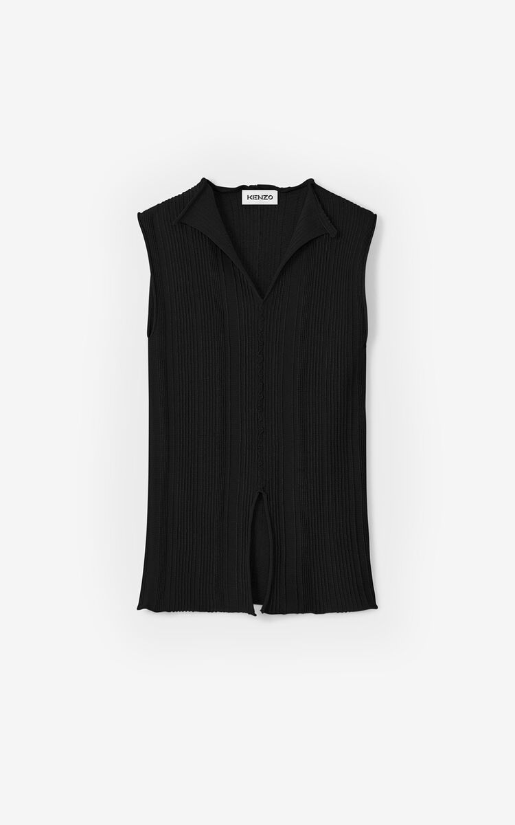 BLACK 'High Summer Capsule' knit top for women KENZO