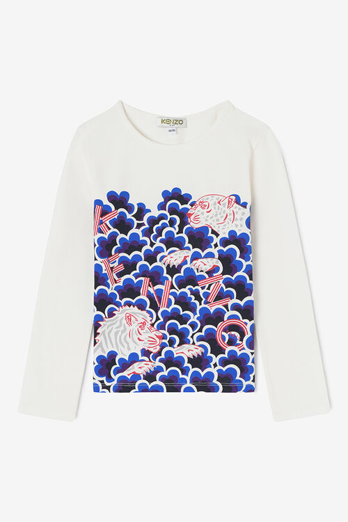 Tiger Friends x Popcorn T-shirt, ECRU, KENZO
